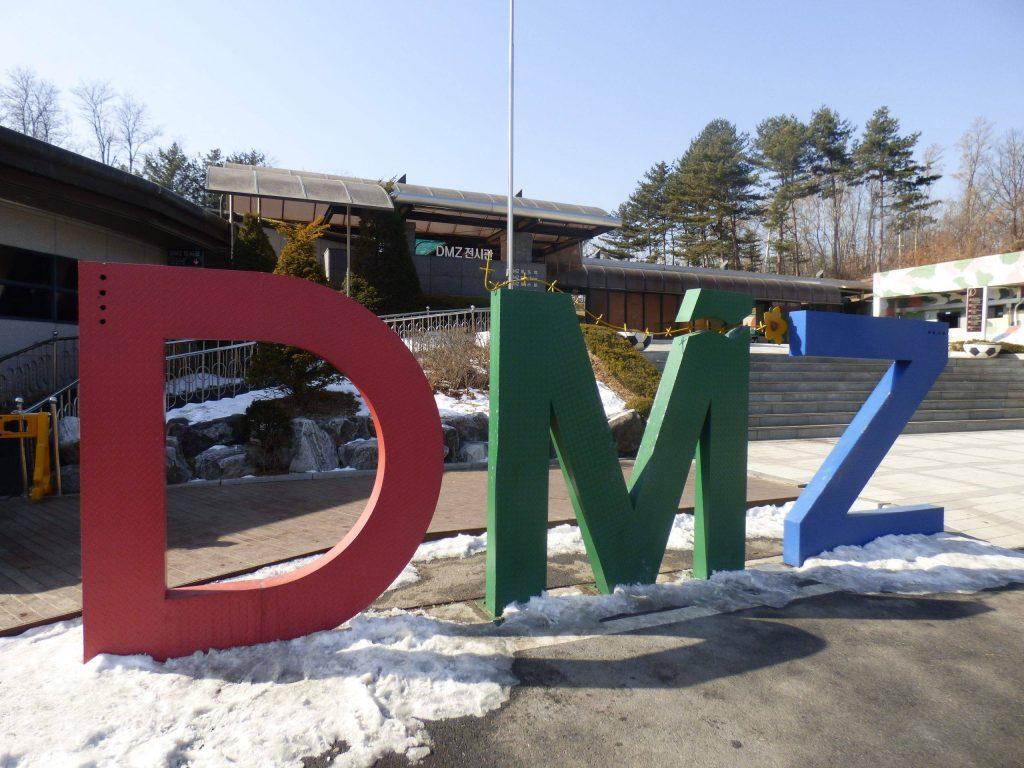 DMZ sign Imjingak Park
