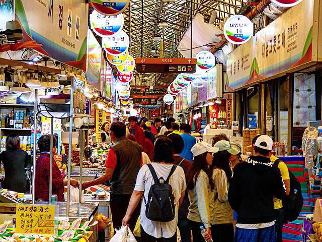 Dongmunjaerae Market jeju highlights