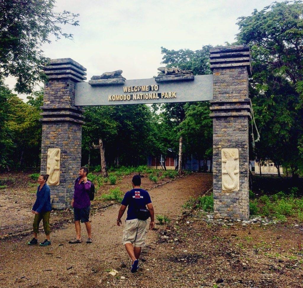 Komodo island entrance tour